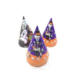 Vintage Halloween Trick or Treat Cone Party Hats